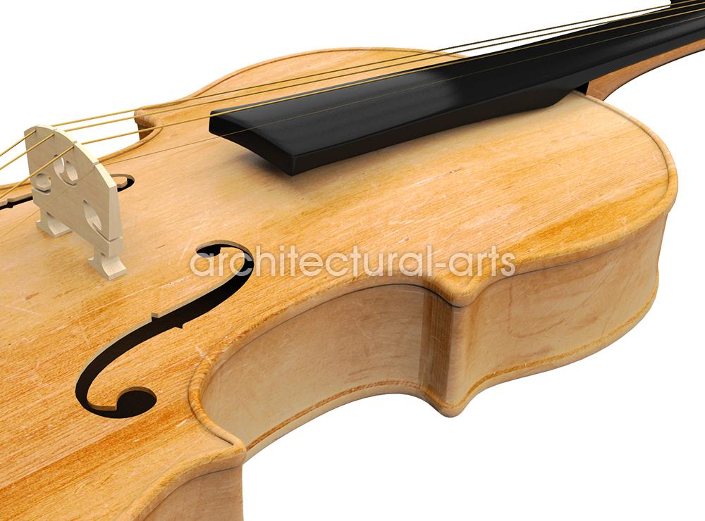 Visualisierung einer Violine.